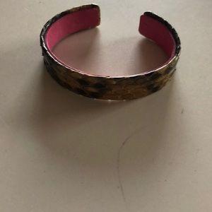 Real snake skin bracelet